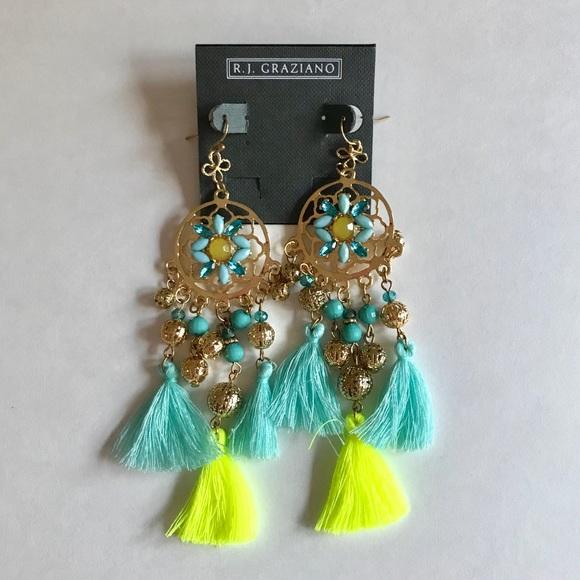 R.J. Graziano Jewelry - R.J. Graziano Tassel Chandelier Earrings